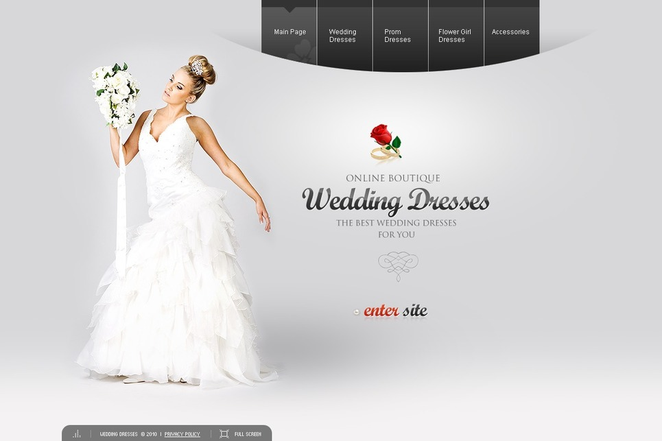 Wedding Dresses Flash Template New Screenshots BIG