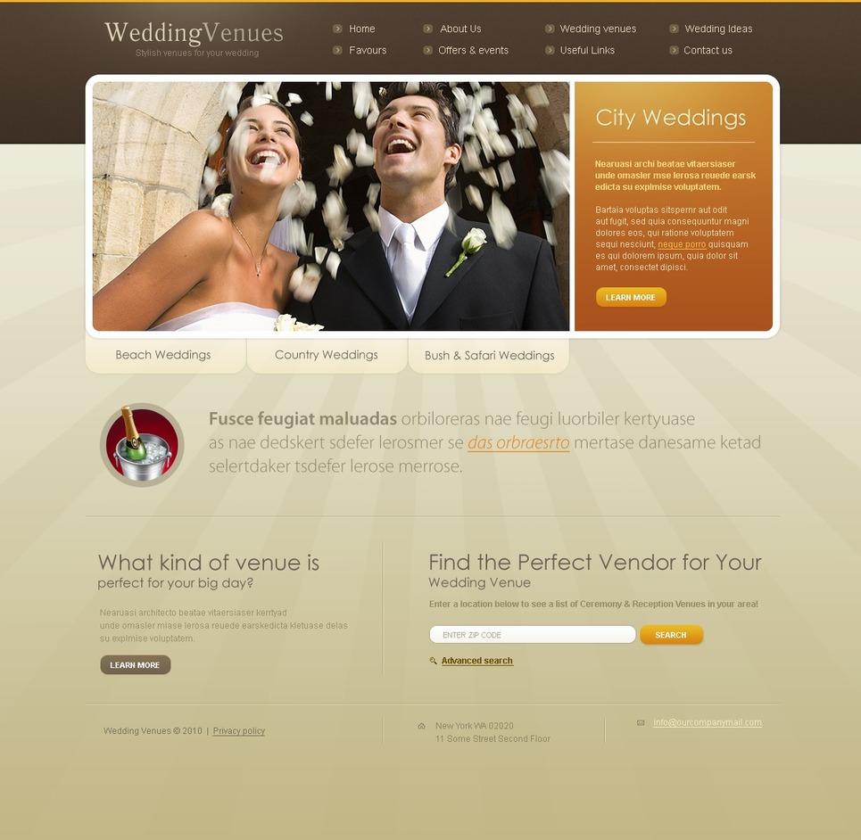 Wedding Venues Website Template New Screenshots BIG