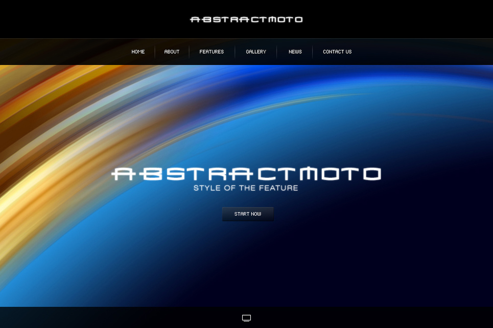 Abstract Flash CMS Template - image