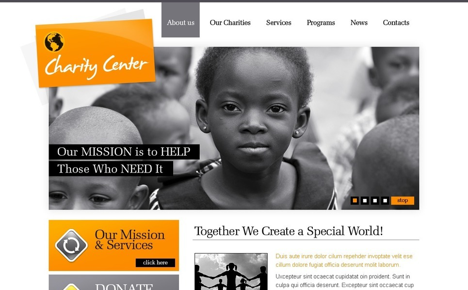 Charity Website Template New Screenshots BIG