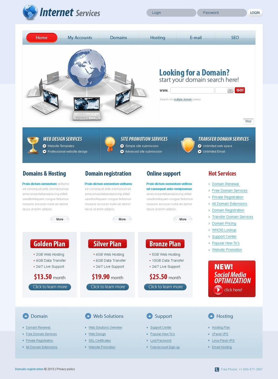 ISP Website Template New Screenshots BIG