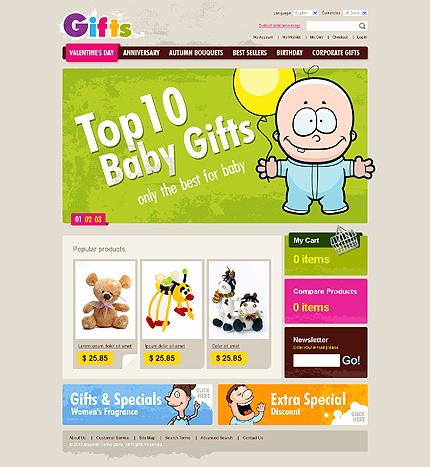 Заказ создания сайта или интернет магазина на тему Интернет магазины, Подарки, на основании шаблона №28633.