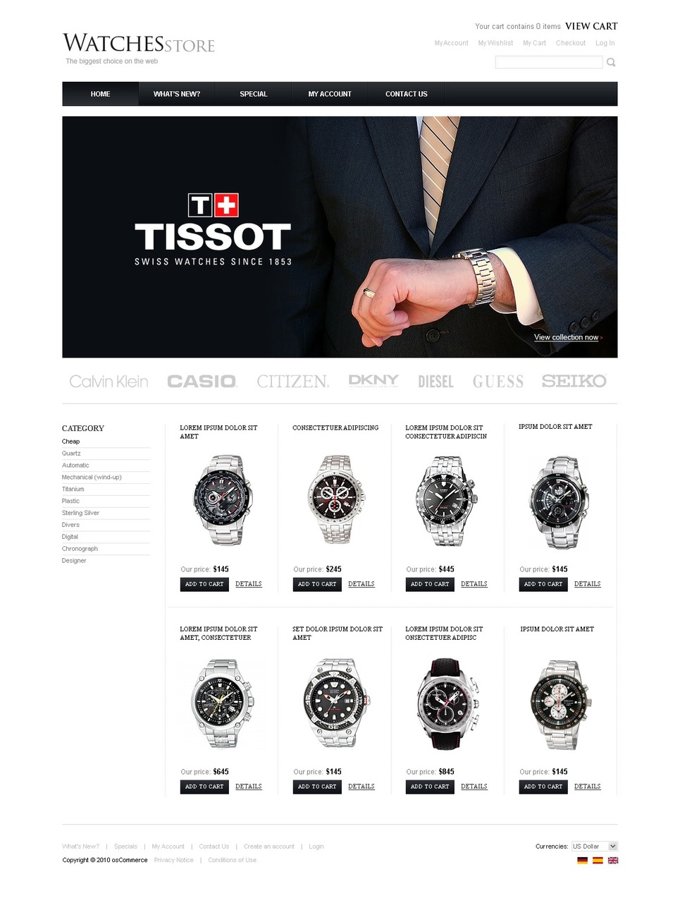 Perfect Watch Store Template for your Business