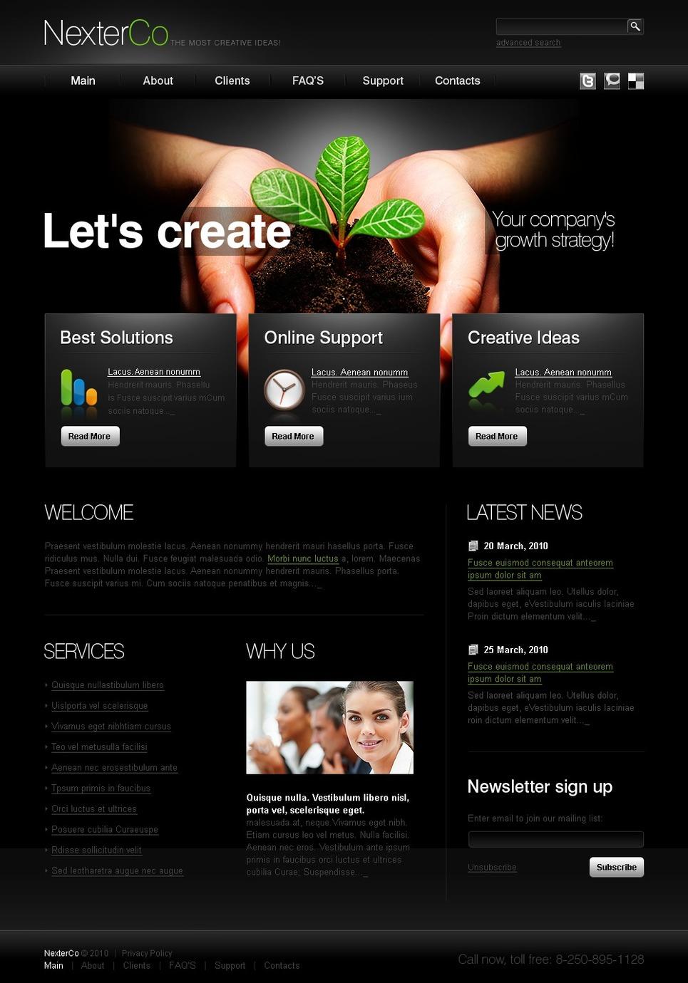 co dynamic website template