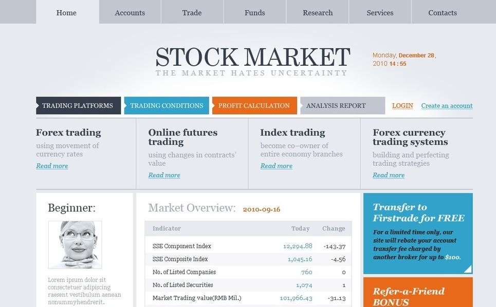 Investment Company Website Template New Screenshots BIG