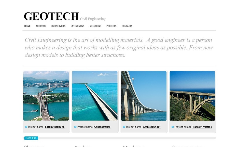 Civil Engineering Website Template New Screenshots BIG