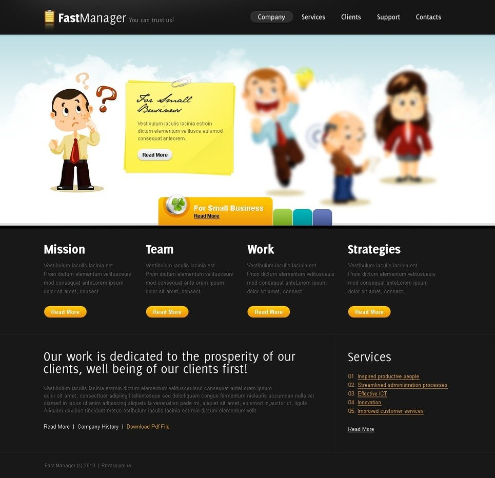 Management Company Website Template New Screenshots BIG