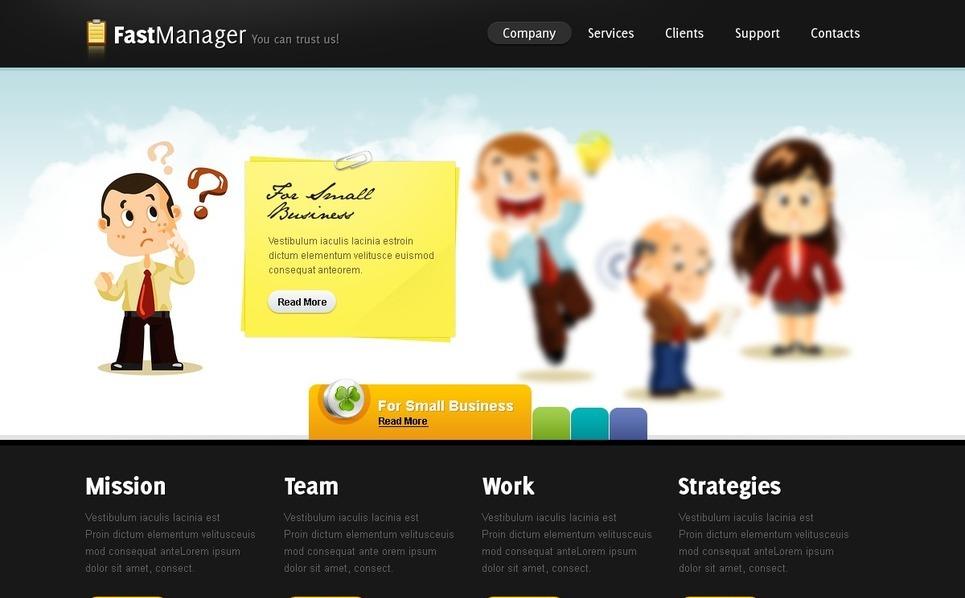 Management Company Website Template New Screenshots BIG