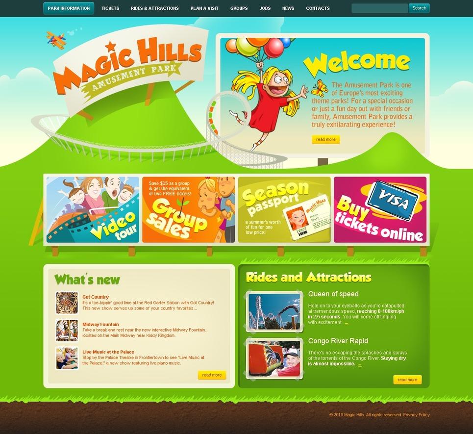 Amusement Park Website Template New Screenshots BIG
