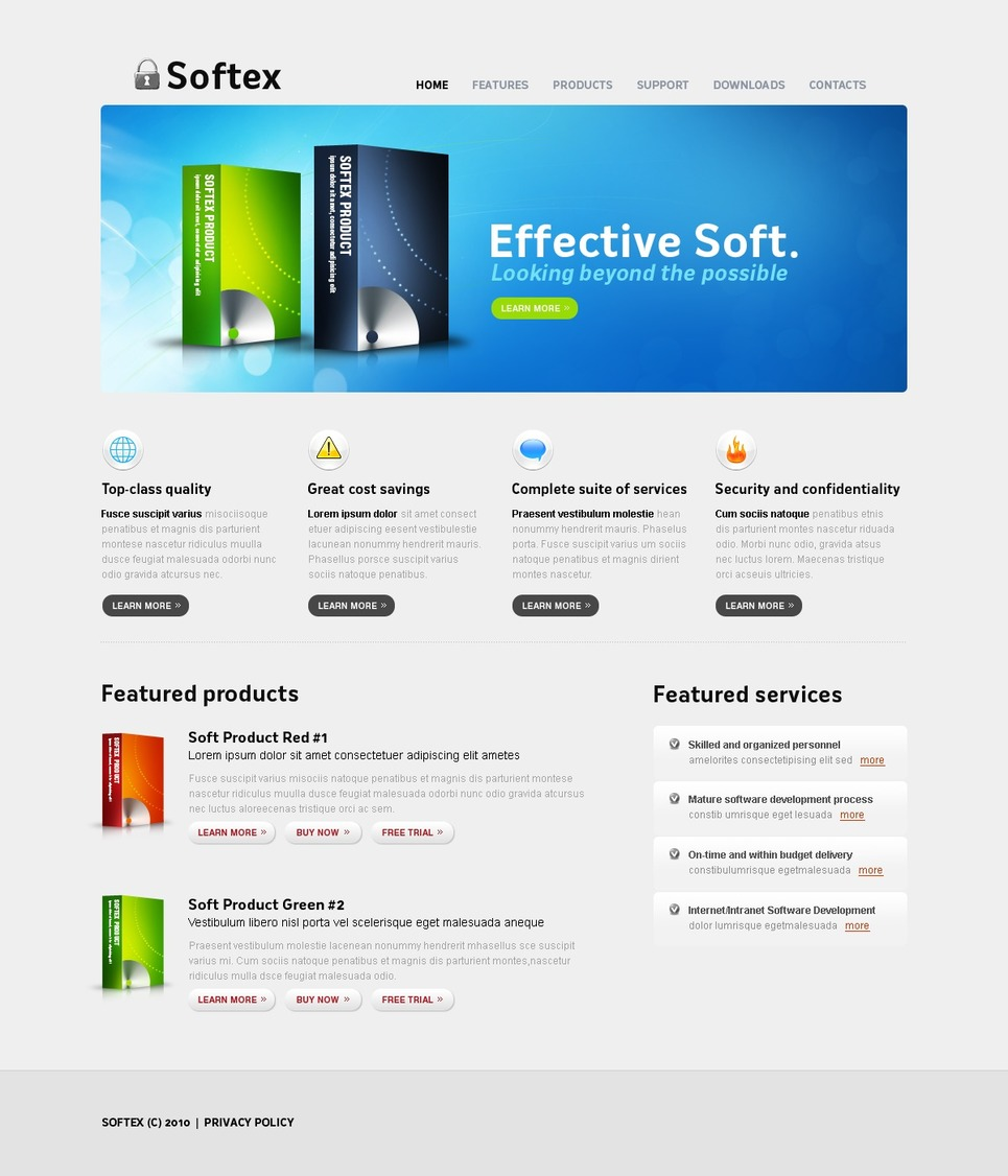 Free Website Templates For Software Company 28 Images