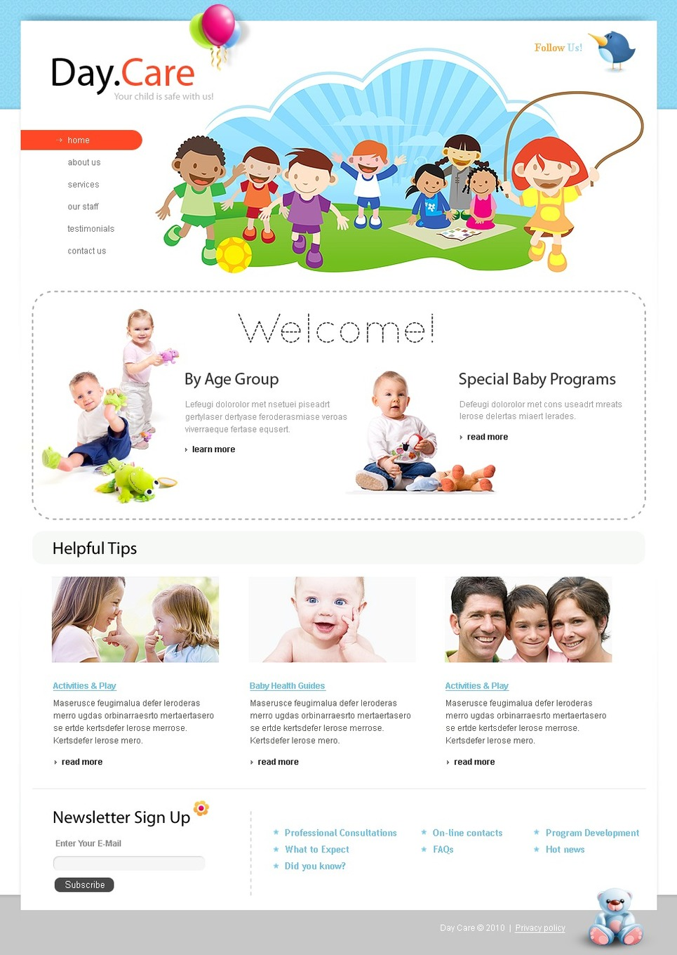 Day Care Website Template 28940