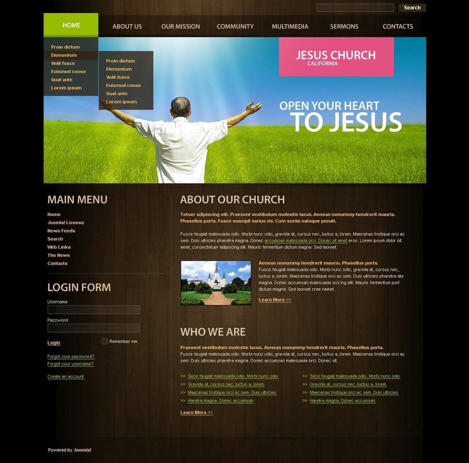 Christian Joomla Template New Screenshots BIG