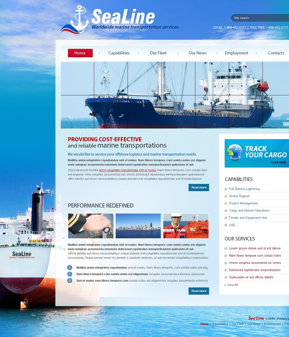 Maritime Website Template New Screenshots BIG