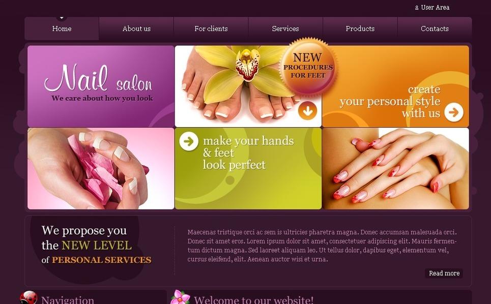 Nail Salon Drupal Template New Screenshots BIG