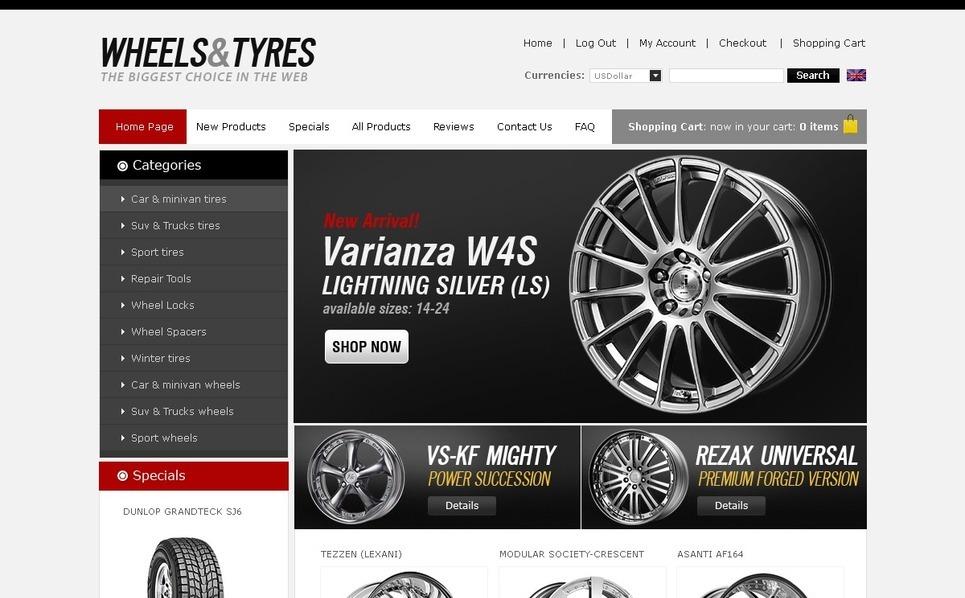 Wheels & Tires ZenCart Template New Screenshots BIG