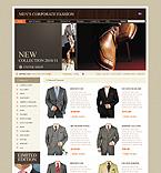 Template #28989  Keywords: mans store fashion men man corporate shop suit tie coat jacket clothes