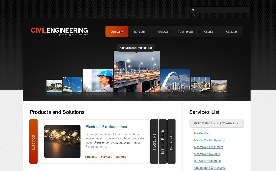 Civil Engineering Joomla Template New Screenshots BIG