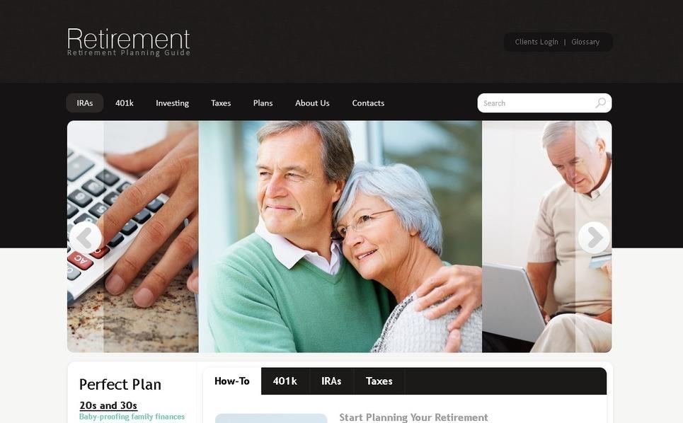 Retirement Planning Website Template New Screenshots BIG