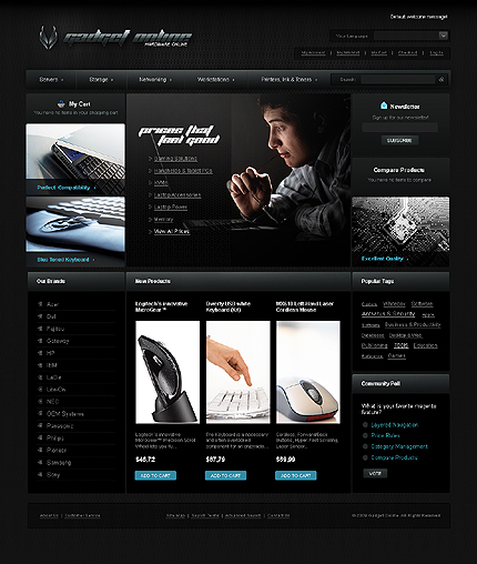 Electronics store - Dignified Electronic Store Magento Theme