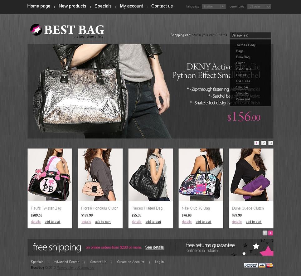 The Best HandBags Store Online OsCommerce Theme