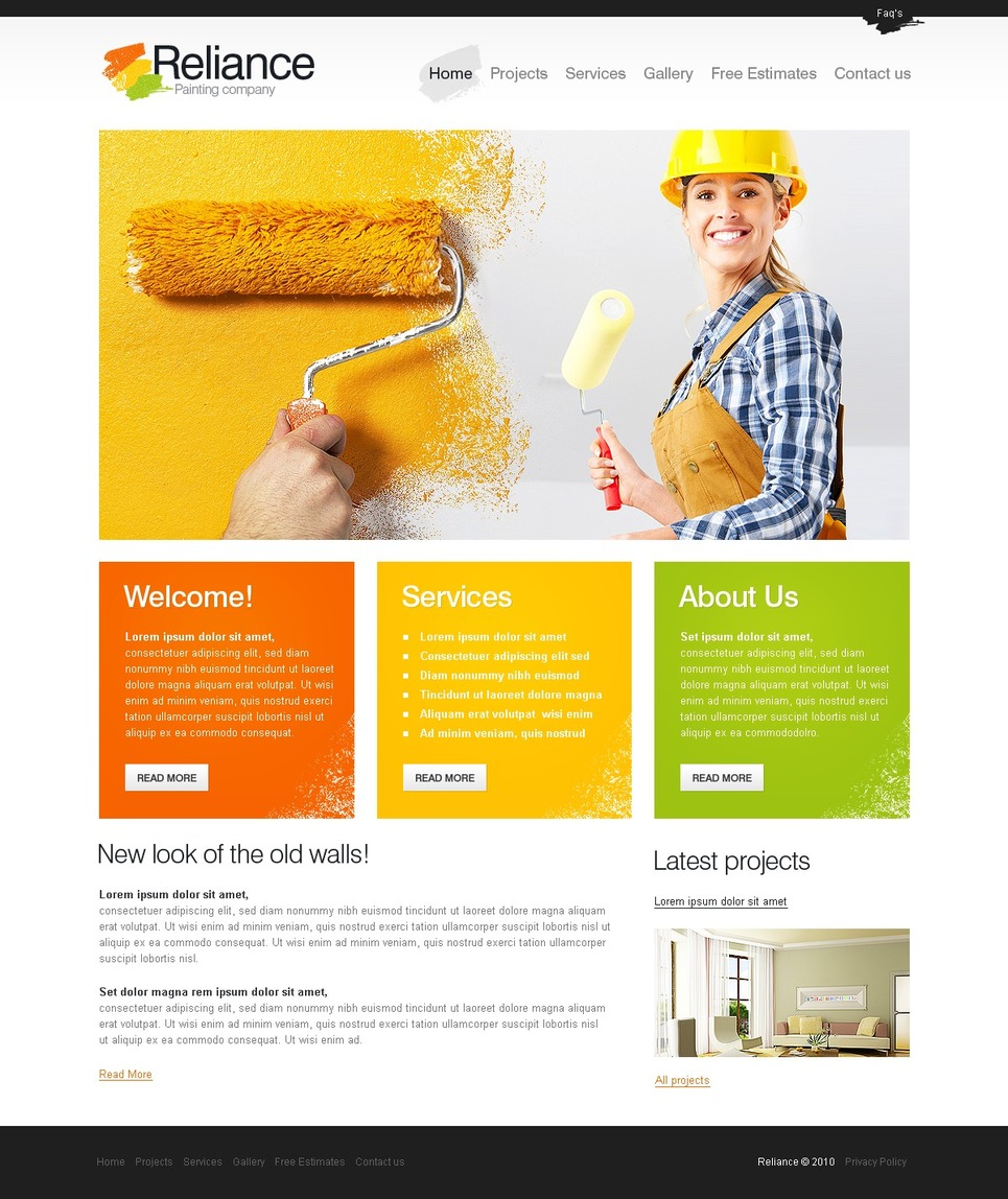 Painting Company Website Template 29111