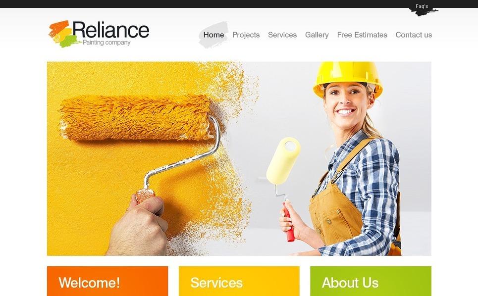 Painting Company Website Template New Screenshots BIG