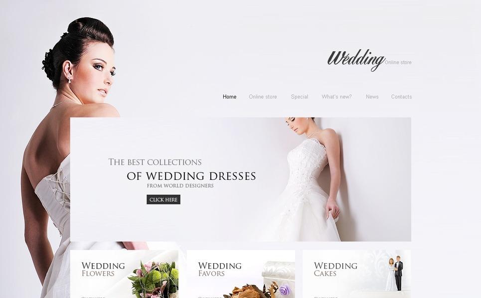 Wedding Shop VirtueMart Template New Screenshots BIG