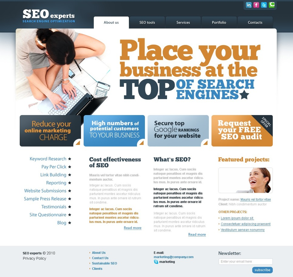 SEO Website Website Template New Screenshots BIG
