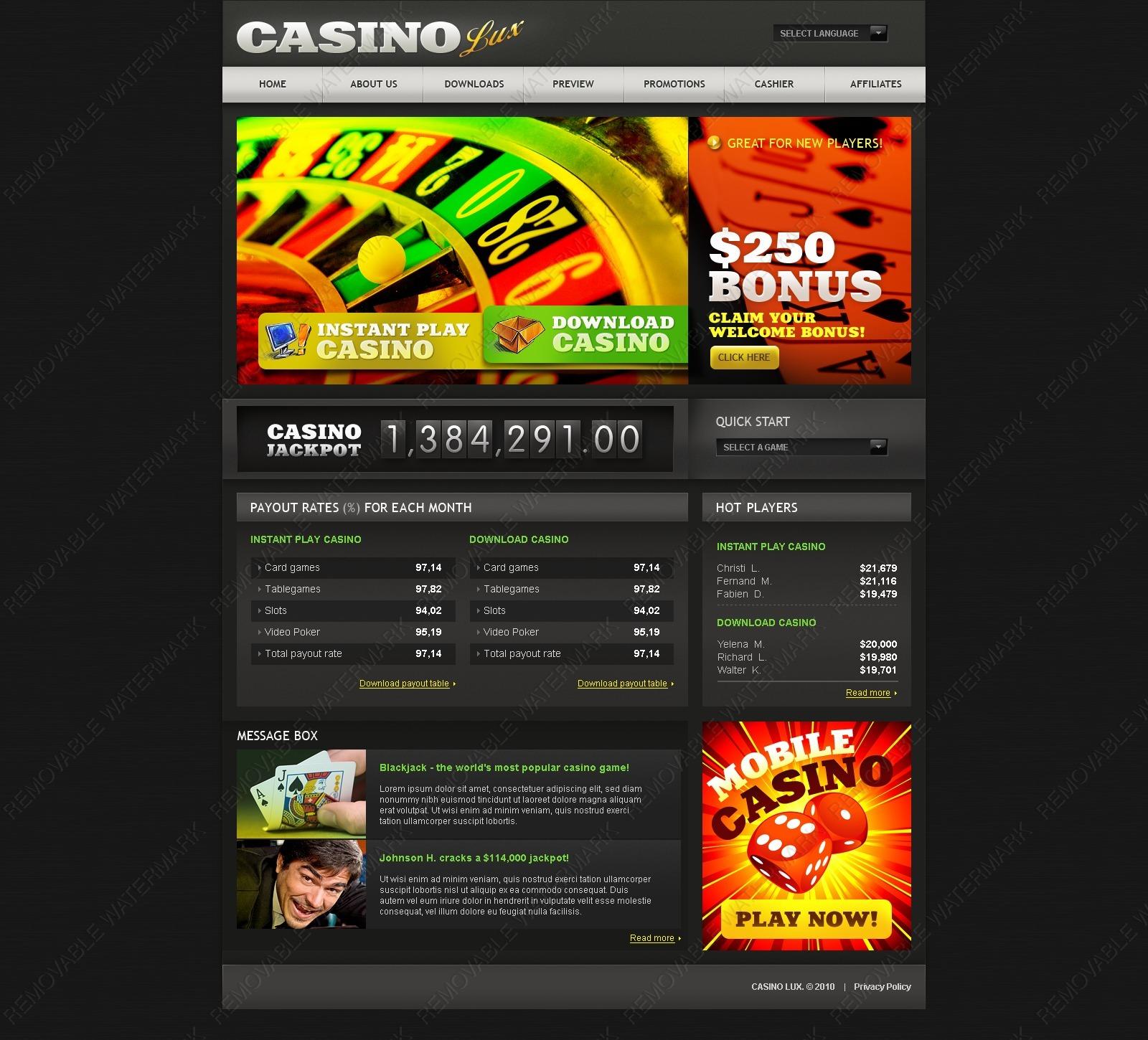 купить готовый сайт казино