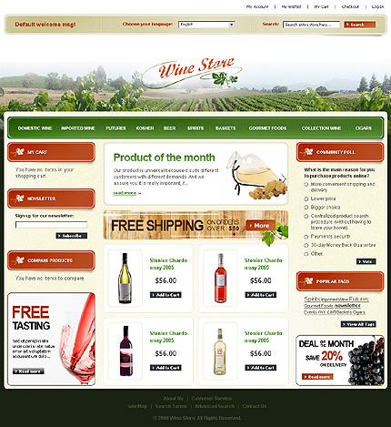 Wine store - Stunning Magento Wine Shop Theme