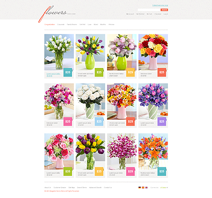 Flowers - Pretty Florist Store Magento Theme