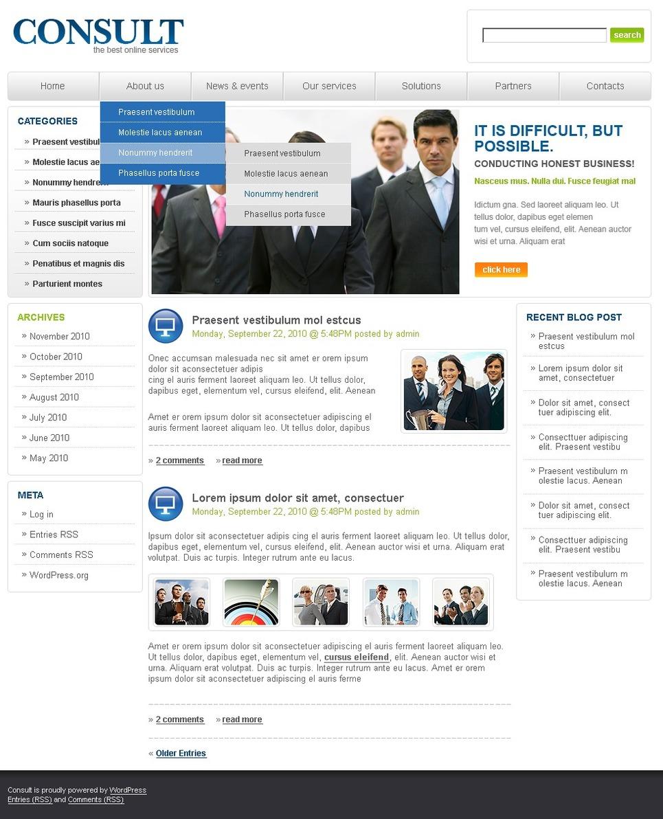 Consulting WordPress Theme New Screenshots BIG