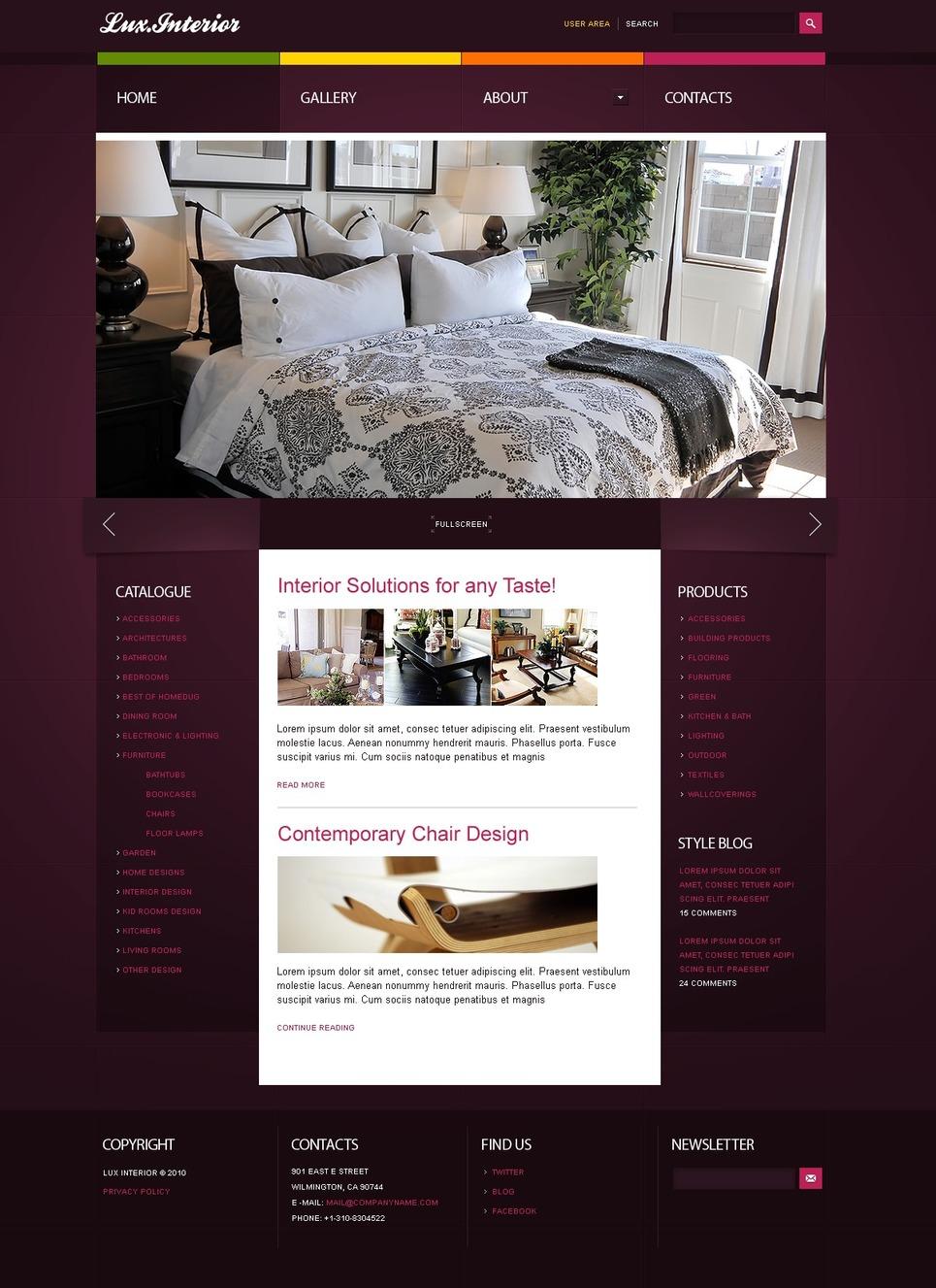 Th me joomla 29271 pour site de design int rieur for Site design interieur