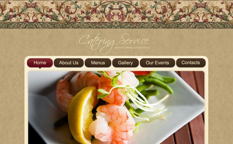 Catering Flash Template New Screenshots BIG