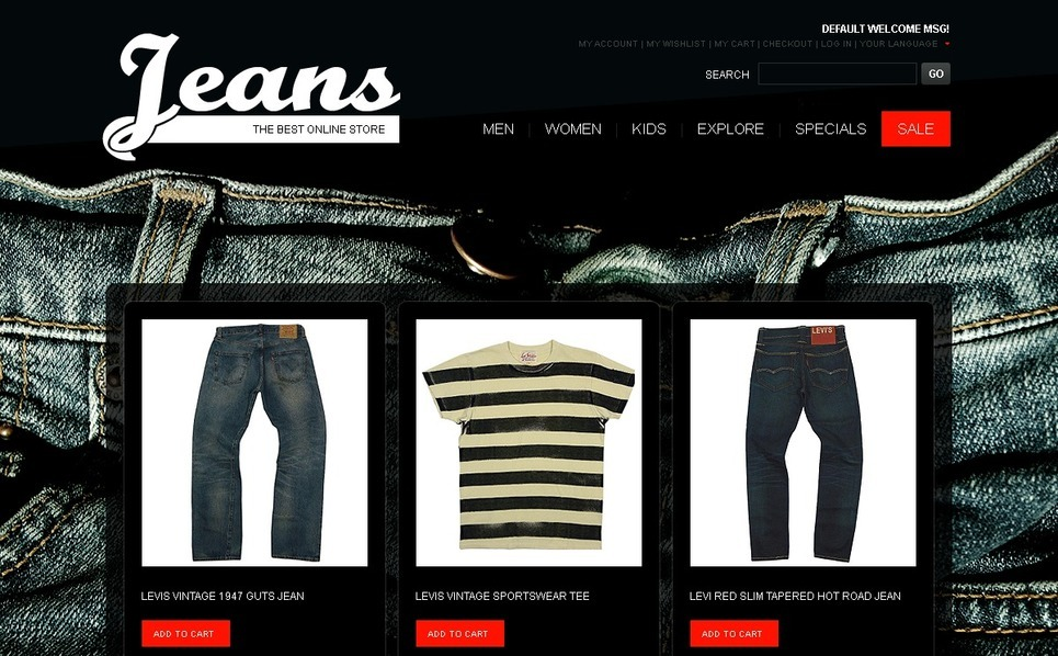 Jeans Magento Theme New Screenshots BIG