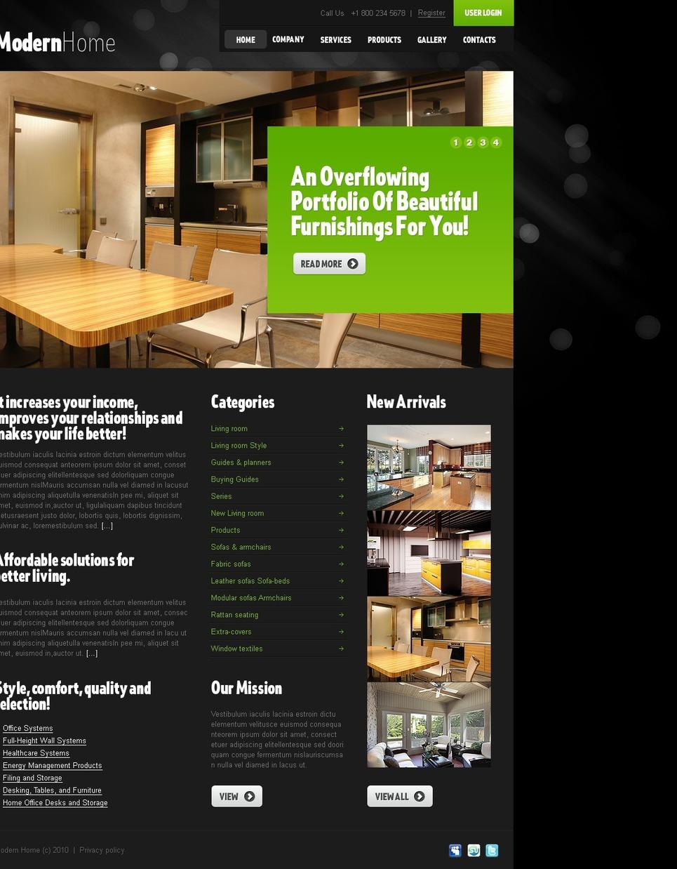 Interior Design Website Template 29376