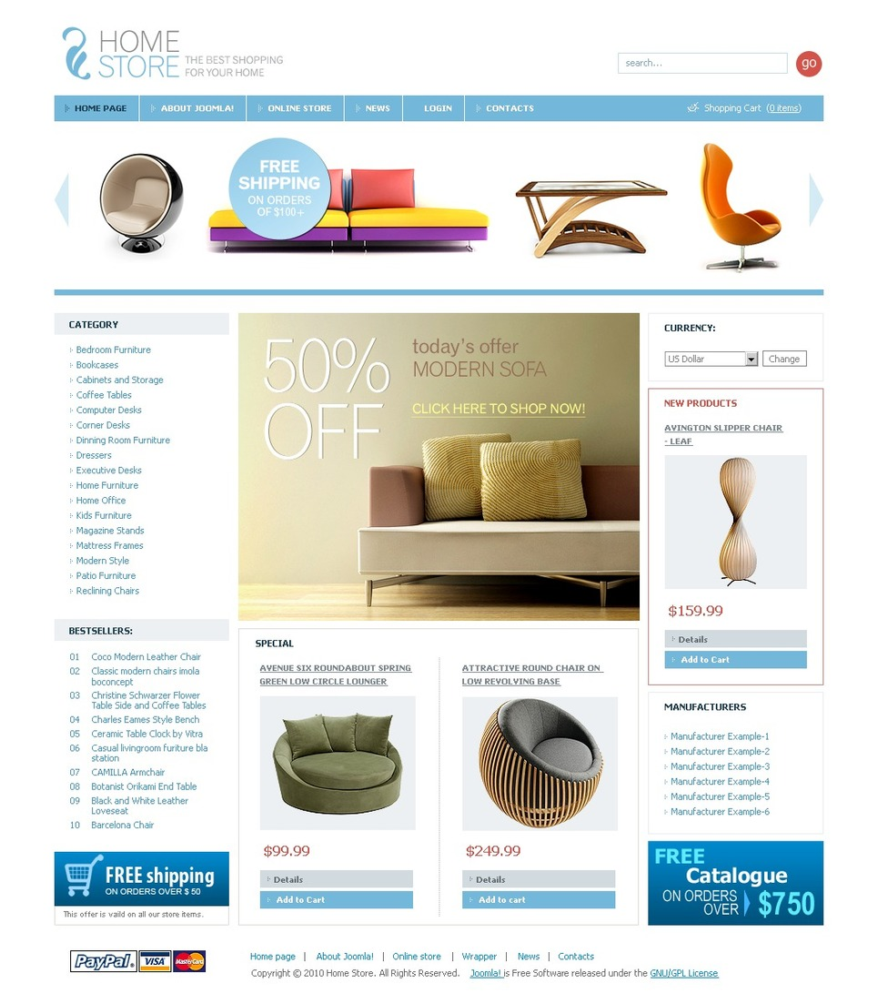 Interior & Furniture VirtueMart Template New Screenshots BIG