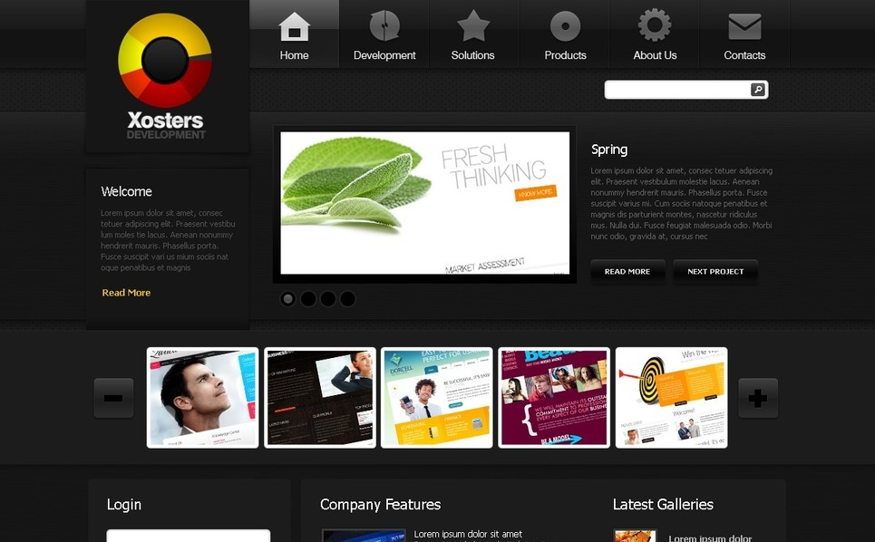 Web Development Joomla Template New Screenshots BIG