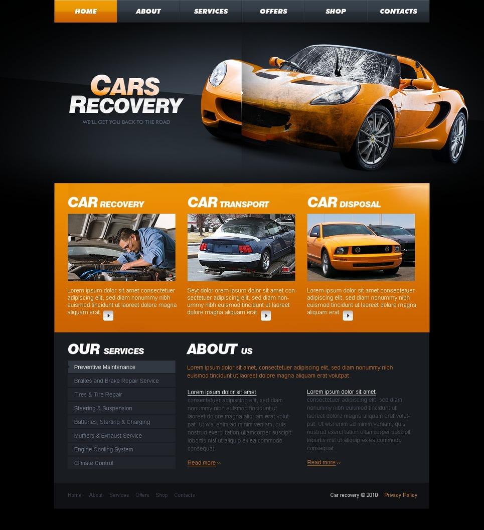 car repair website template 29458. Black Bedroom Furniture Sets. Home Design Ideas
