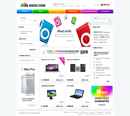 Digital store - Glamorous Electronic Store Magento Theme