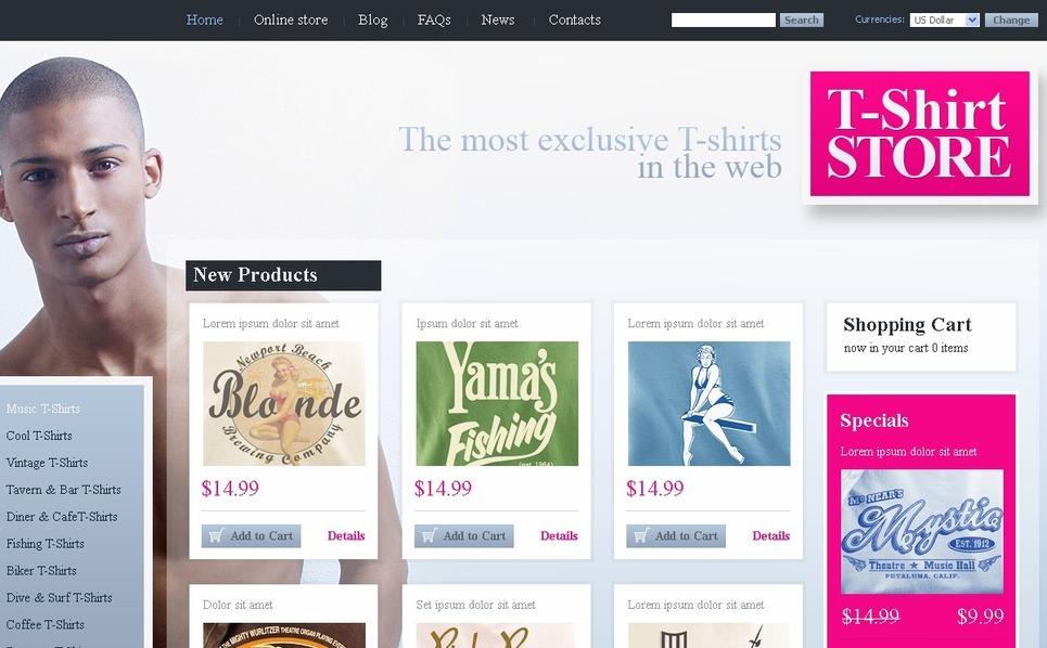 T-shirt Shop VirtueMart Template New Screenshots BIG