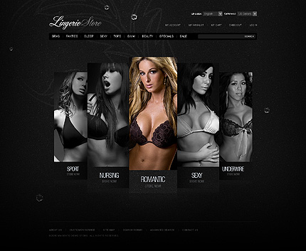 Lingerie store - Superb Magento Lingerie Store Template