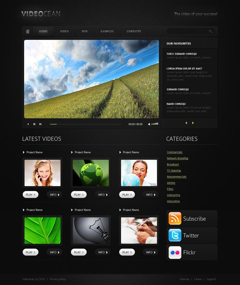 Video Gallery Website Template New Screenshots BIG