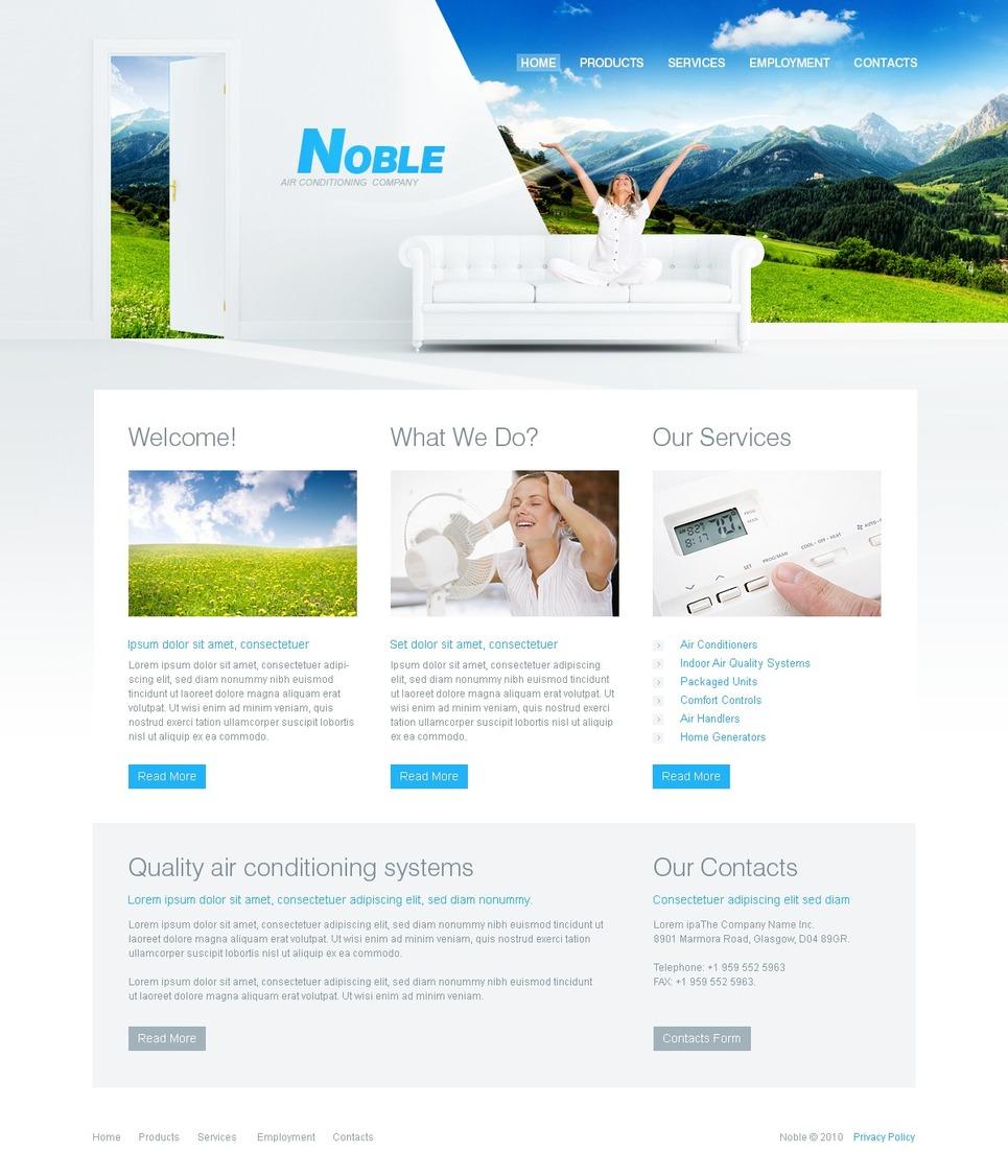 Air Conditioning Website Template New Screenshots BIG
