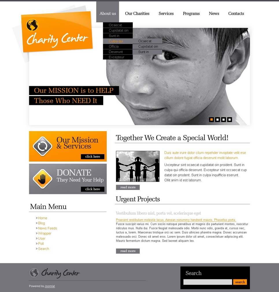 Charity Joomla Template New Screenshots BIG