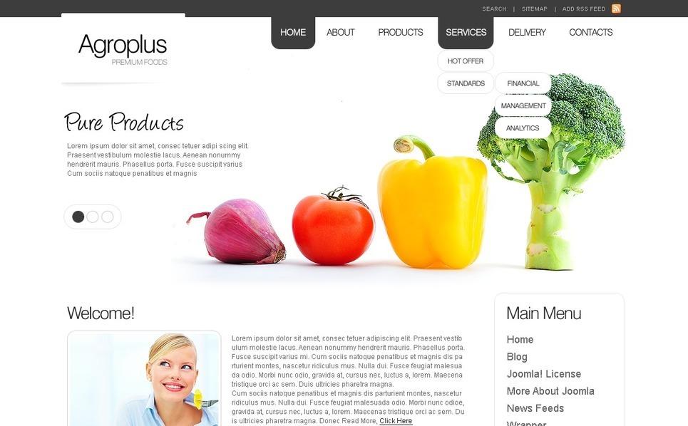 Agriculture Joomla Template New Screenshots BIG