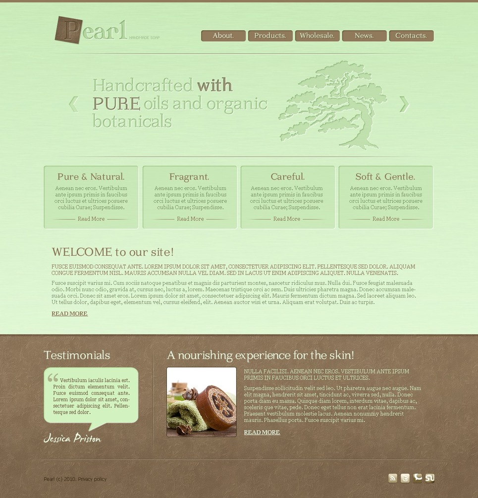 Spa Accessories Website Template New Screenshots BIG