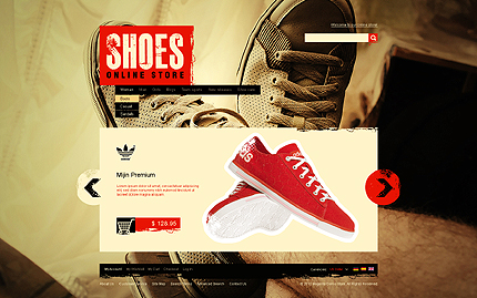 Shoes online store - Ultimate Footwear Store Magento Template