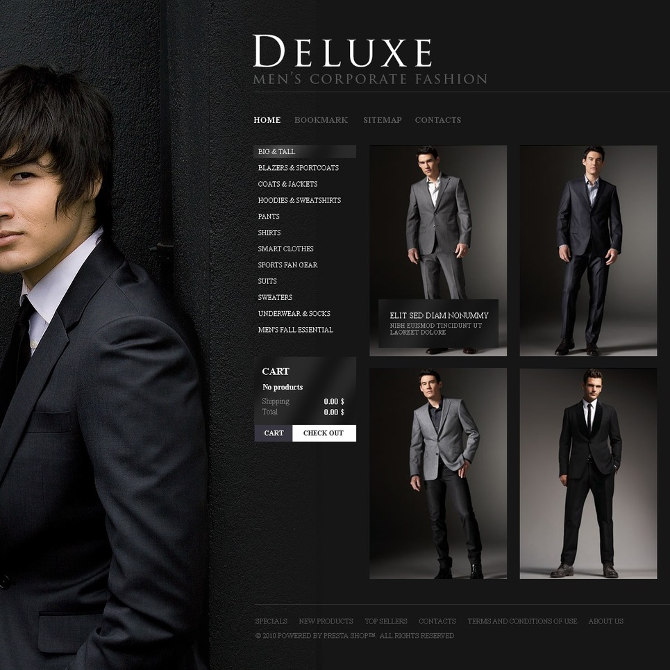 Mens Wear Online PrestaShop Theme New Screenshots BIG
