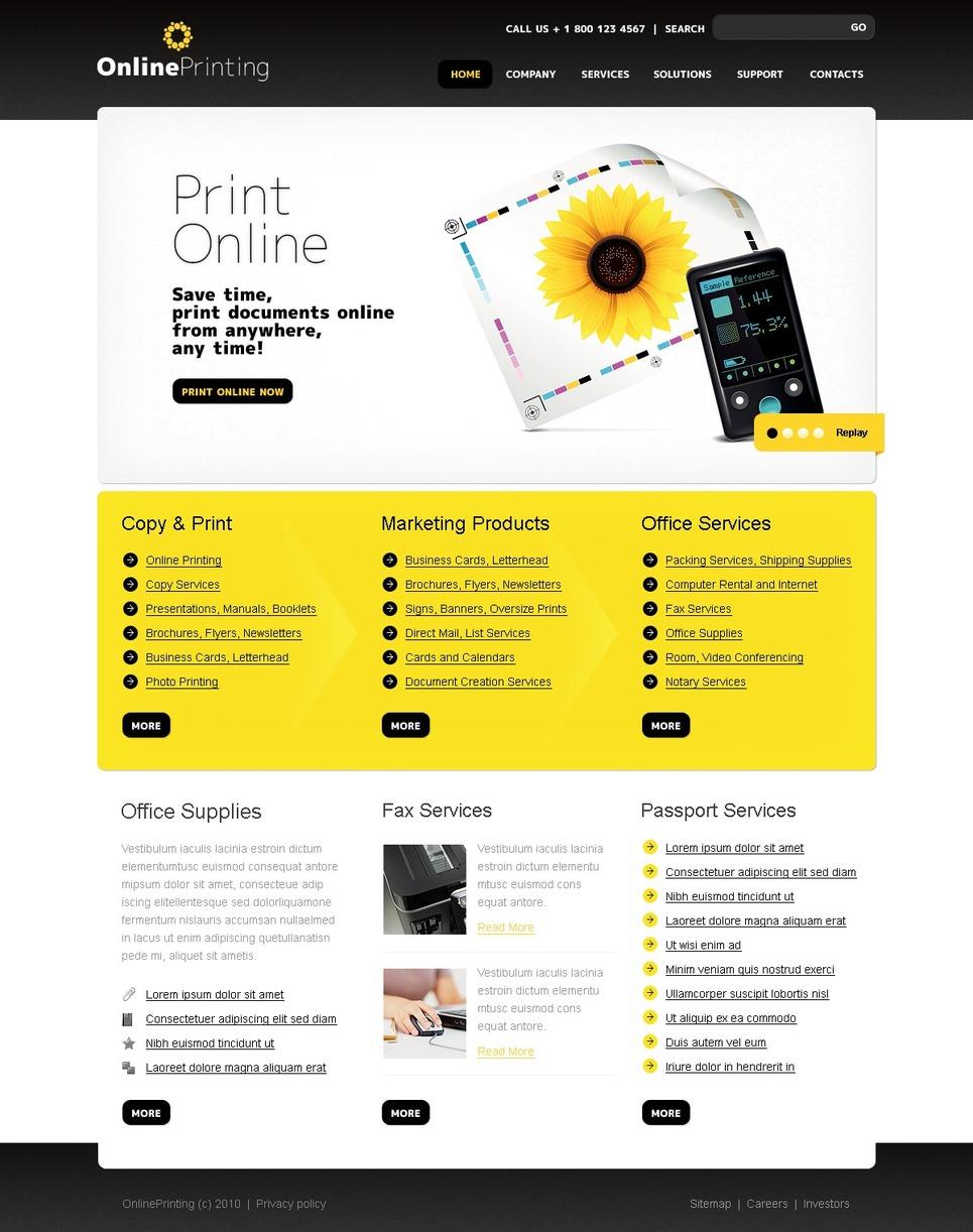 print shop website template 29903. Black Bedroom Furniture Sets. Home Design Ideas